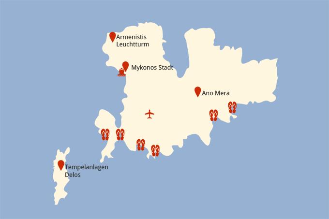 Karte Norwegen D303244nemark.Mykonos Sehenswurdigkeiten Karte