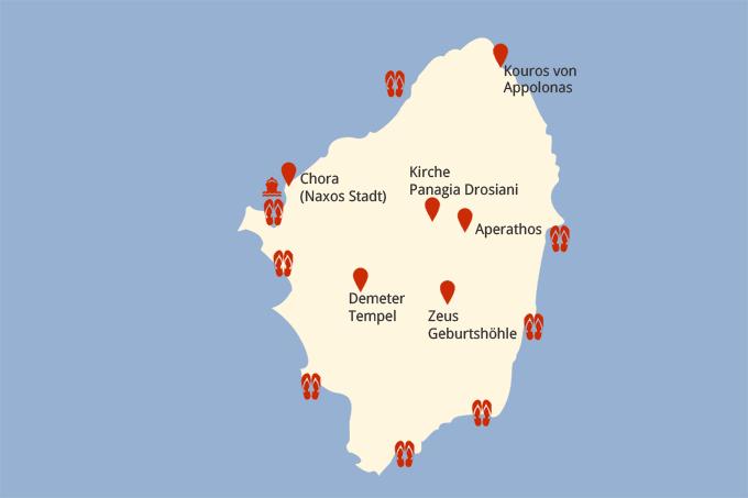 Rhodos Karte Mit Sehenswürdigkeiten.Naxos Und Seine Sehenswürdigkeiten